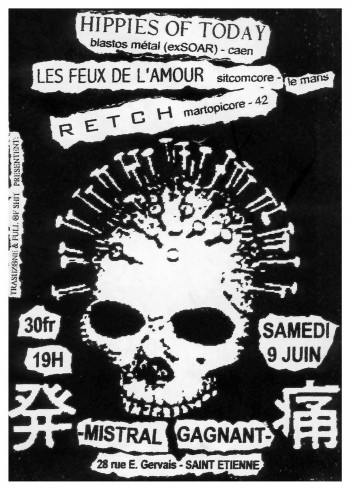 09/06/2001 - Les Feux de L'Amour + Hippies Of Today + Retch @ St-Etienne (Le Mistral)