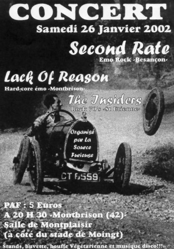 26/01/2002 - Second Rate + The Insiders + Lack Of Reason @ Moingt
