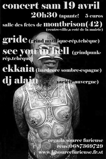 19/04/2003 – Gride + See You In Hell + Ekkaia+ DJ Alain @ Montbrison