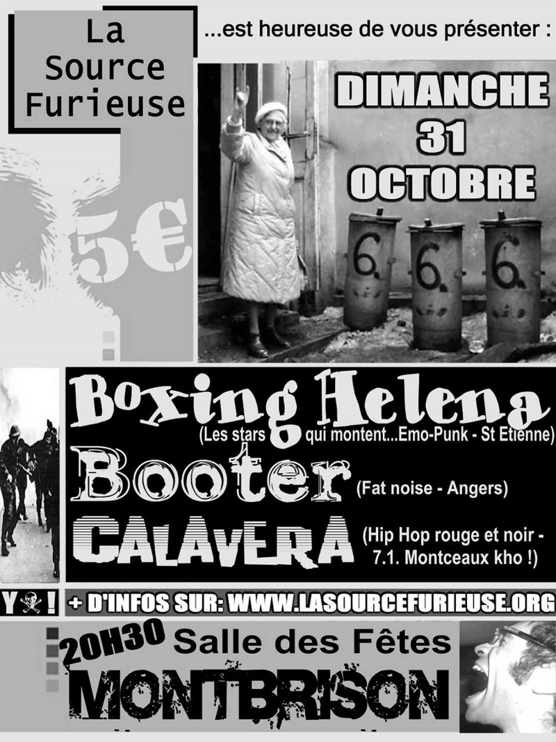 31/10/2004 - Boxing Helena + Booter + Calavera @ Montbrison
