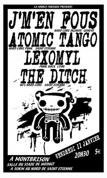 11/01/2008 - Atomic Tango + J'm'en fous + Lexomil + The Ditch @ Moingt