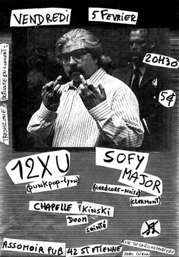 05/02/2010 - 12 XU + Sofy Major + Chapelle Kinski @ St-Etienne (L'Assommoir)