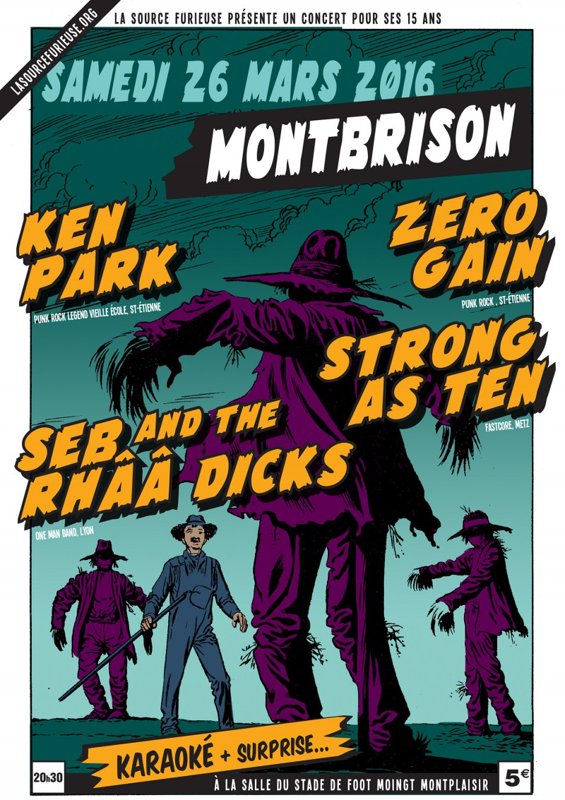 26/03/2016 - Strong As Ten + Ken Park + Seb and the Rhââ Dicks + Zero Gain @ Moingt